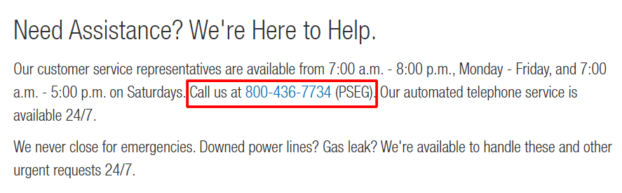 pseg nj phone number