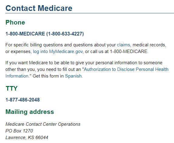 medicare customer service