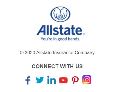 allstate social media