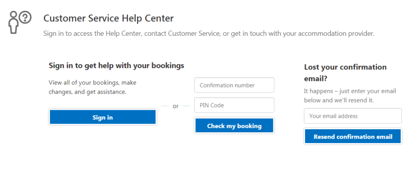 booking.com customer service