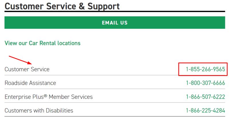 enterprise phone number