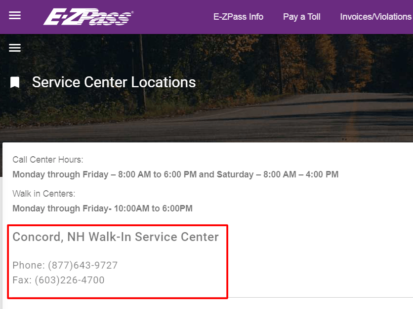 ez pass nh customer service
