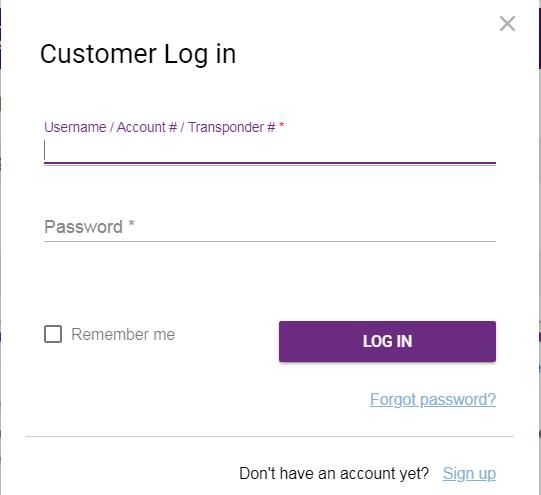 ez pass nh login