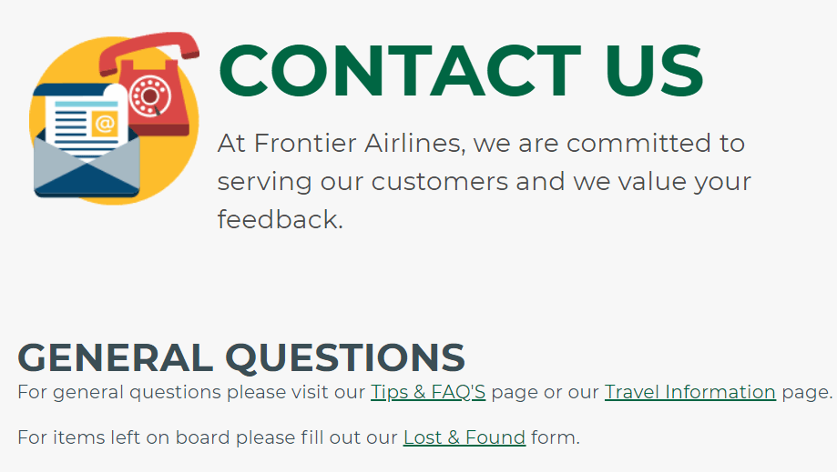 frontier airlines customer service