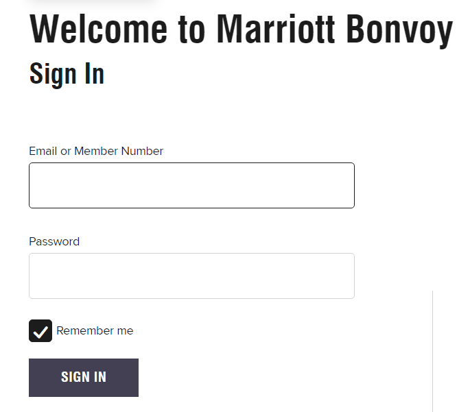 marriott login