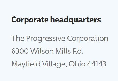 progressive corporate office