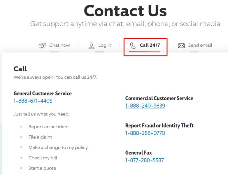 progressive phone number