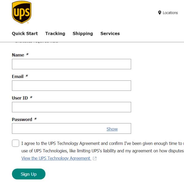 ups login