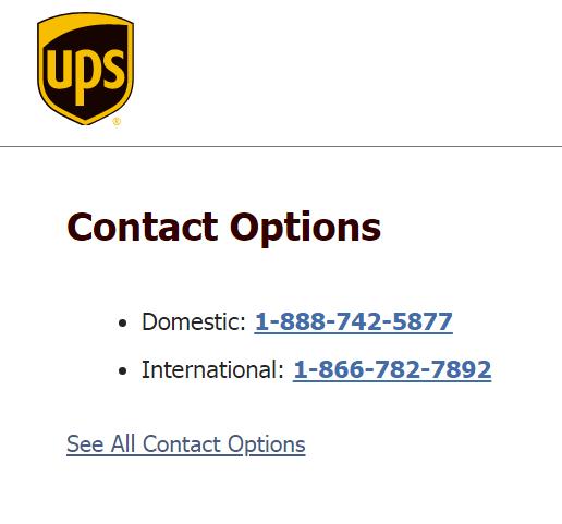 ups phone number