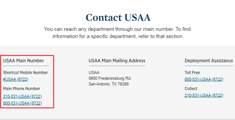 usaa phone number