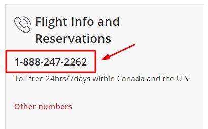 air canada phone number