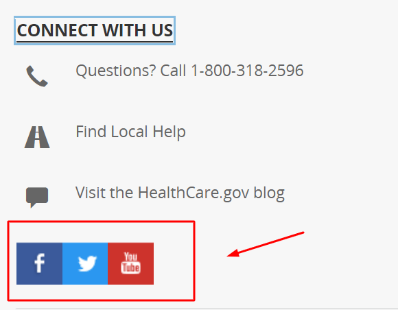 healthcare.gov social media