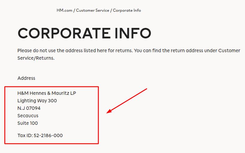 hm corporate office