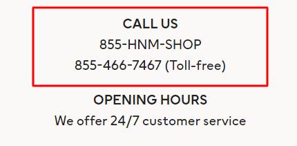 hm phone number