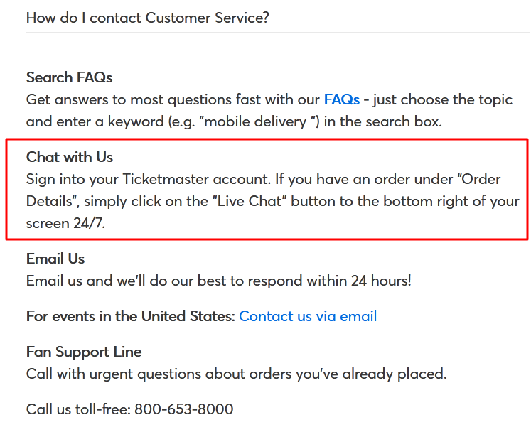 ticketmaster live chat