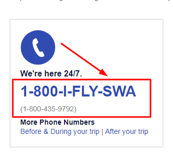 southwest airlines phone number