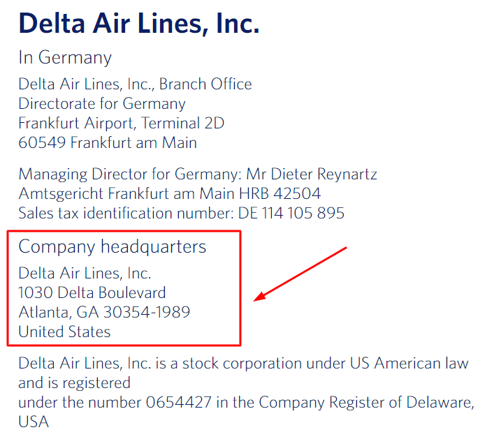 delta airlines corporate office