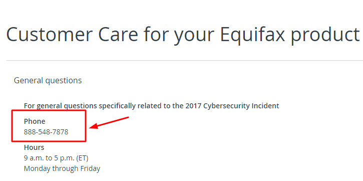equifax phone number