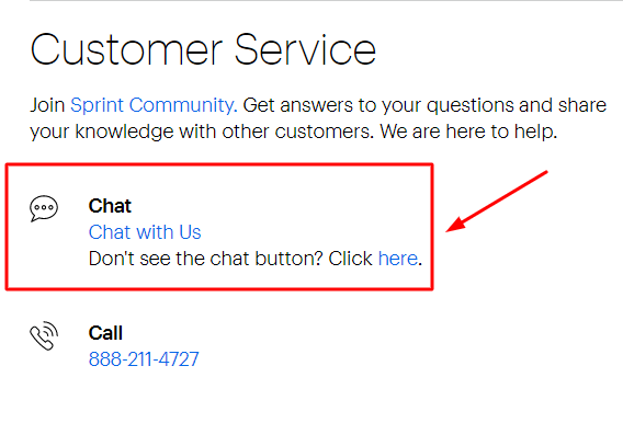 sprint live chat