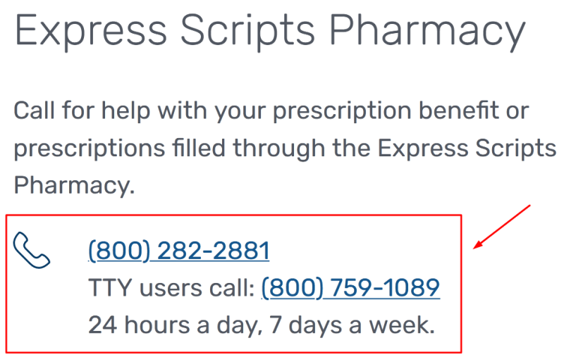 express scripts phone number
