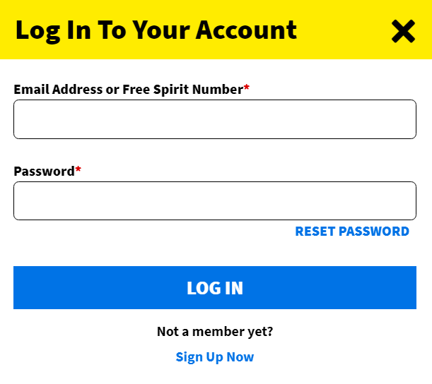 spirit airlines login