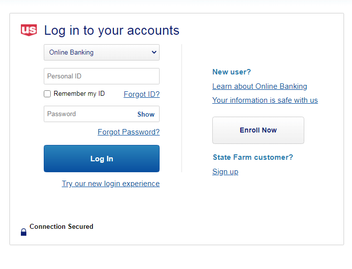 us bank login