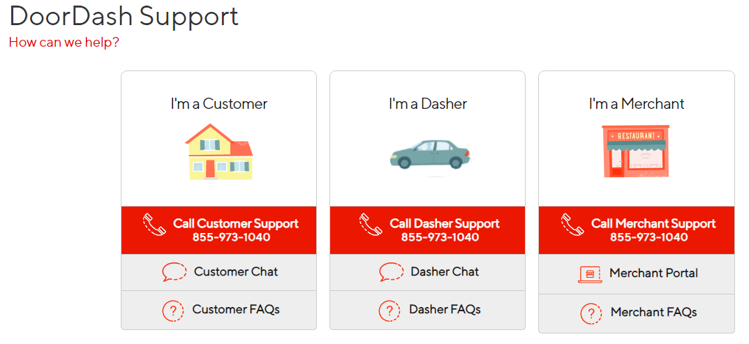 doordash customer service