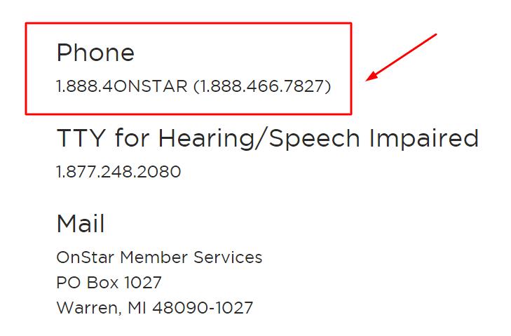 onstar phone number