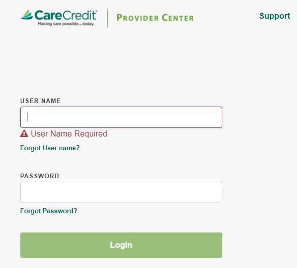 provider log in